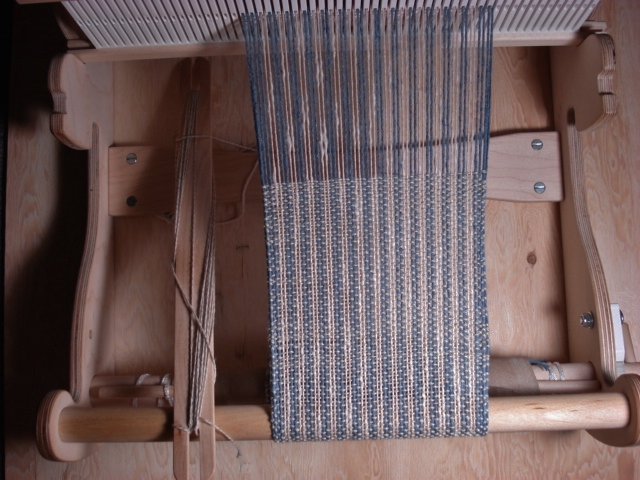 blue white cotton linen scarf 001 (2)