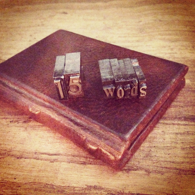 15 words book